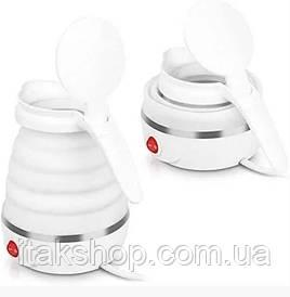 Раскладной дорожный чайник Kitfort КТ-670 0.6л 800Вт (Белый)