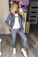 Летний стильный женский костюм с пиджаком и брюками Разные цвета С, М +большой размер, фото 1