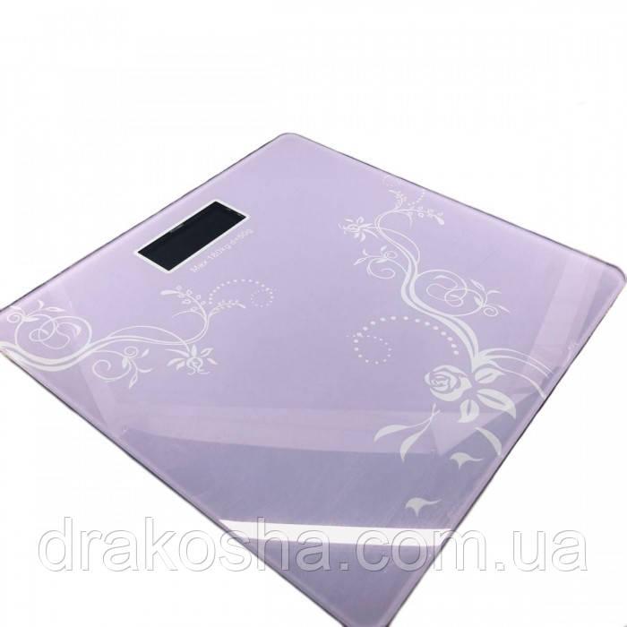 Электронные напольные весы Domotec WH-1604 до 180 кг ФИОЛЕТОВЫЕ