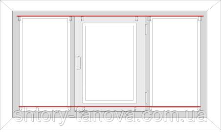 как правильно замерить рулонные шторы в один ряд