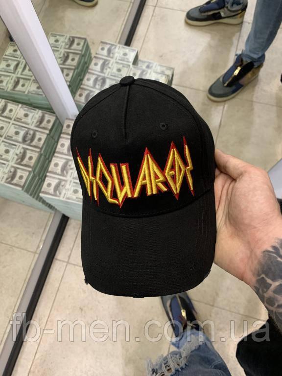 Кепка Dsquared желтого цвета логотип в виде молнии Бйсболка кепка мужская женская Дисквайред с молнией
