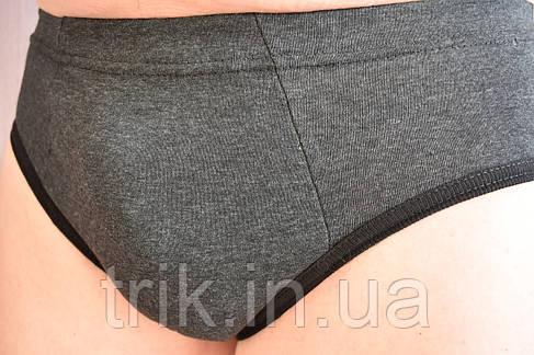Мужские трусы плавки черные (антрацит) меланж, фото 2