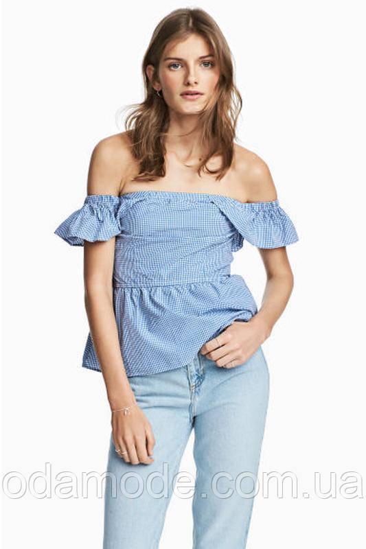 Блуза женская H&M в клетку