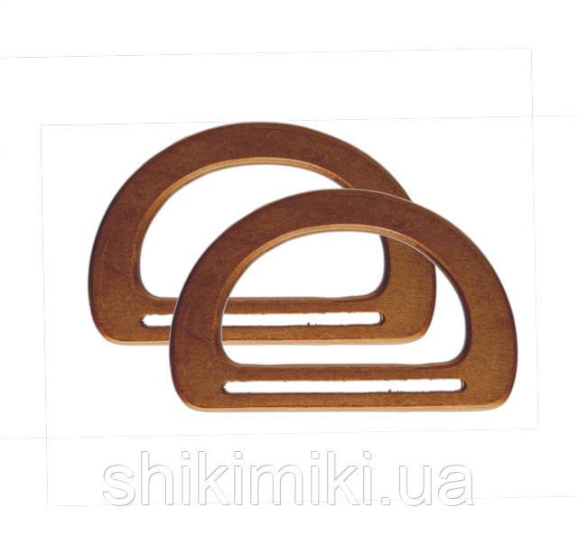 Ручки для сумок   деревянные коньячные
