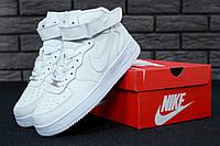 Кроссовки Nike Air Force 1 High White (Высокие белые Найк Аир Форс мужские и женские размеры 36-47)