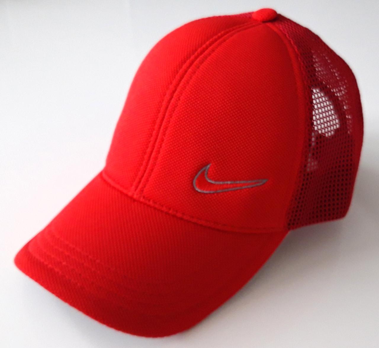Кепка подростковая Nike сетка (55-56 см) красная