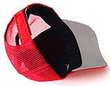 Кепка подростковая Nike сетка (55-56 см) красная, фото 2