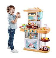 Игровая детская кухня 889-153-154, вода , свет, звук, беж(38 предмета)