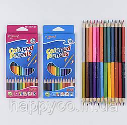 Карандаши детские цветные двухсторонние 12шт