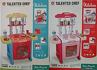 Игровая детская кухня 922-14A-15A, плита, духовка, посуда,продукты 38-55-12см 11/14