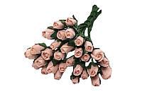 Букетик из микро бутонов розы — Персиковые, 8 мм, 10 шт