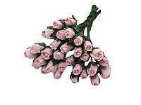 Букетик из микро бутонов розы — Розовоперсиковые, 8 мм, 10 шт