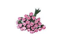 Букетик из микро бутонов розы — Розовые, 8 мм, 10 шт