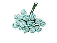 Букетик из мини бутонов розы — Мятные полураскрытые, 13 мм, 5 шт