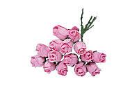 Букетик из мини бутонов розы — Розовые полураскрытые, 13 мм, 5 шт