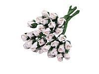 Букетик из микро бутонов розы — Белые, 8 мм, 10 шт