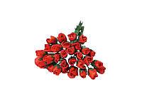 Букетик из микро бутонов розы — Красные, 8 мм, 10 шт