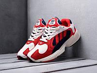Кроссовки Adidas Yung-1 White Red (Адидас Янги в бело-красном цвете) мужские и женские размеры 36-45