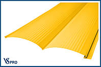 Сайдинг фасадный металлический Блок-Хаус, RAL 1003 Цвет Сигнальный жёлтый (глянец).