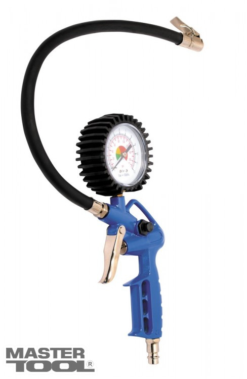 Пневмопистолет для подкачки колес с манометром 0-12 бар