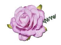 Кудрявая роза — Светло-сиреневый, размер 4 см, 1 шт