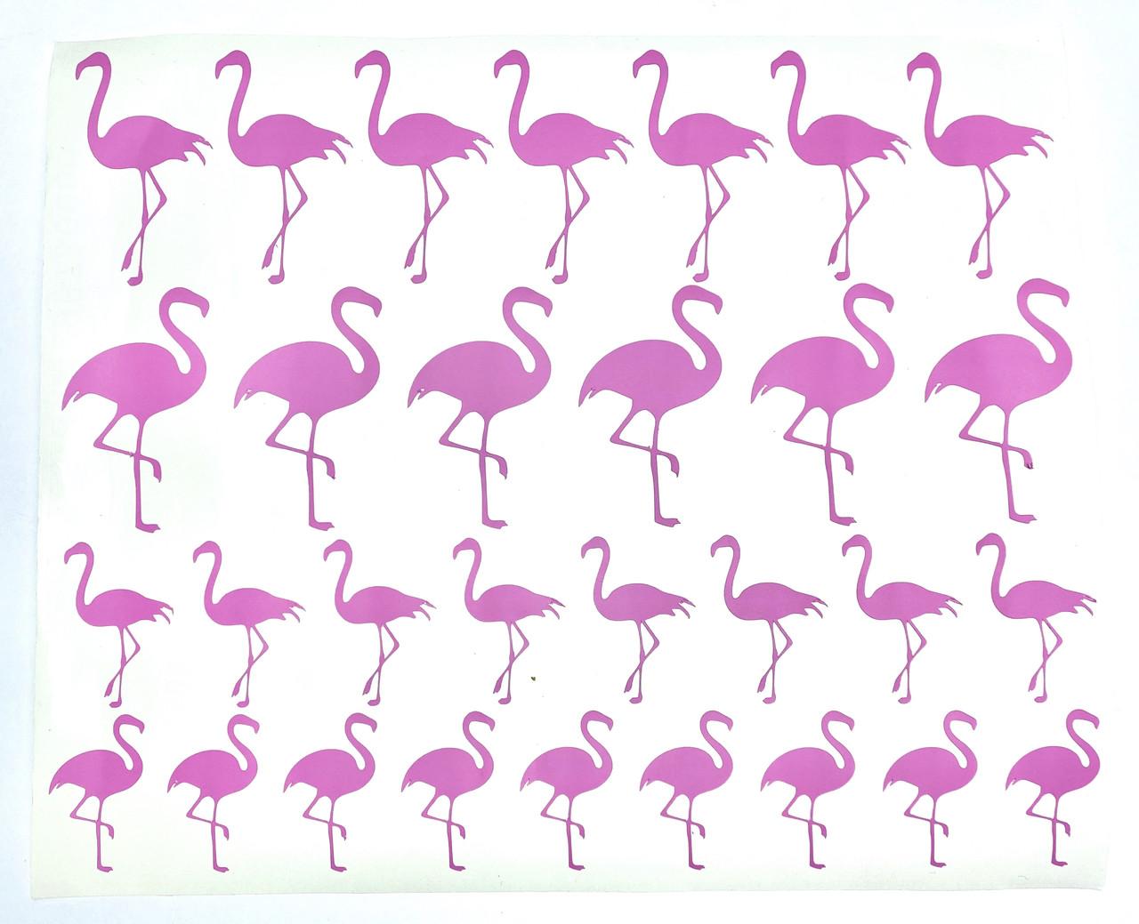 Набор наклеек Фламинго розовый