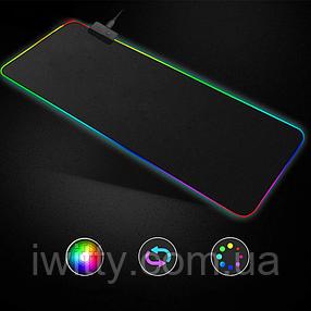 Коврик для мыши с подсветкой Rasure (RGB L-780 780х300мм ), фото 2