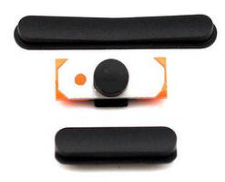 Набор внешних кнопок Apple iPad 2 (3 шт) Original Black
