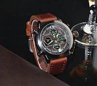 Кварцевые мужские наручные часы AMST Watch коричневые