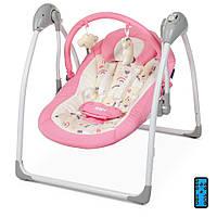 Колыбель-качель, Кресло-качалка для ребёнка , Электрокачель с пультом ME 1047 AIRY Pink, розовый 11/60.3