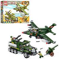 Конструктор детский, конструктор для мальчика RICK 1710 военный, транспорт, фигурки, 438дет 11/8.7