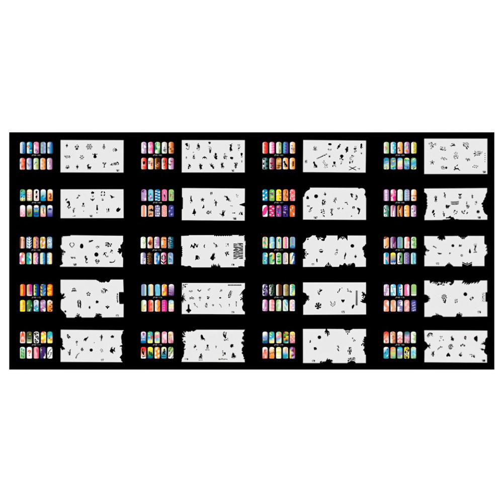 Набор трафаретов 20 шт. для nail art №9 Uairbrush 161-180