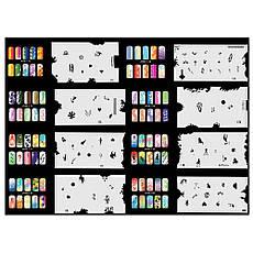 Набор трафаретов 20 шт. для nail art №9 Uairbrush 161-180, фото 3