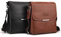 Мужская кожаная сумка POLO. Сумки кожаные. Кожанная cумка.Код:КС2-2