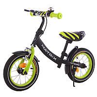 ХИТ Детский беговел (велобег), Tilly Balance T-21259 Matrix Green, черно-салатовый 11/38.4