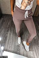 Женские стильные трикотажные брюки 2 цвета, фото 1