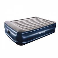 Двуспальная кровать надувная матрас-кровать встроенный Bestway 67614, 152*203*56 см 11/44.6