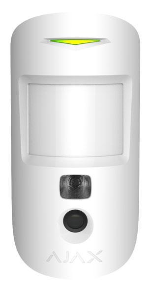 Беспроводной датчик движения с фотофиксацией Ajax MotionCam, White