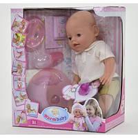 Детская кукла пупс 8006-419, высота 42 см, бутылоч,горшок, соска,тарел, ложк, каша ,подгузн 11/15.5