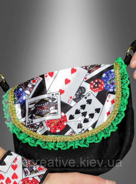Женская сумка в стиле казино