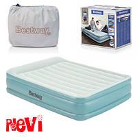 Надувная двухспальная кровать-матрас со встроенным электронасосом Bestway 67708 (203-152-46 см) 11/72.6