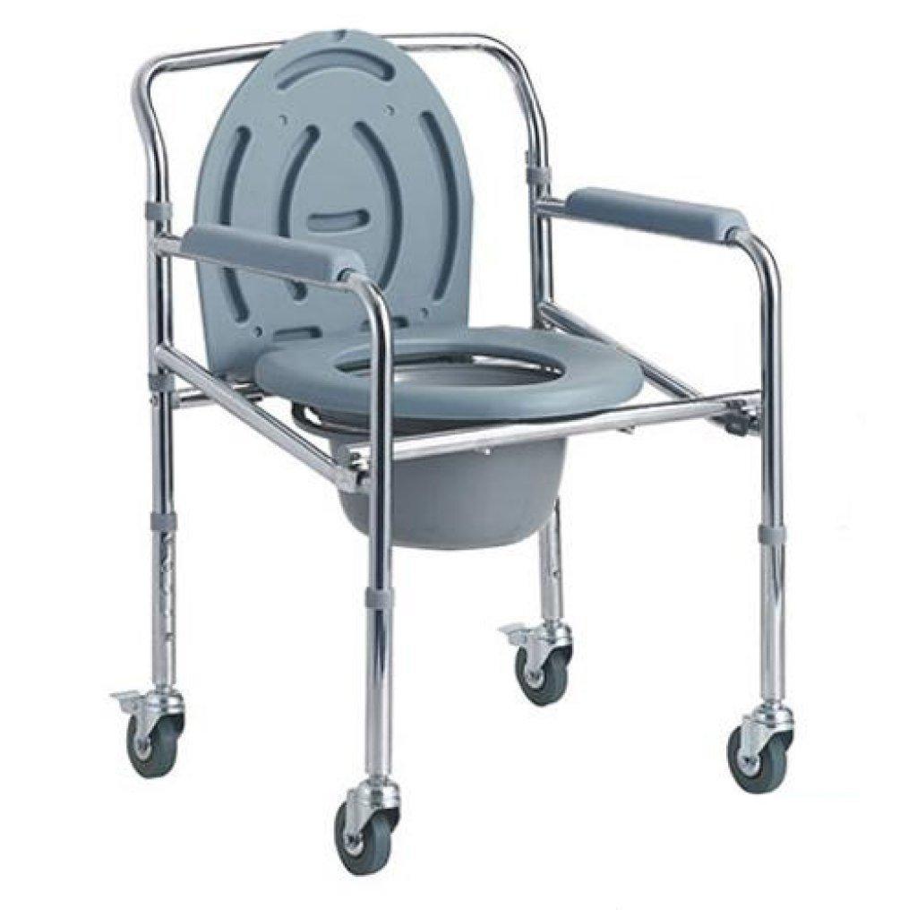 Стул-туалет Dayang DY02696(5) на колесах, усиленный, регулируемый