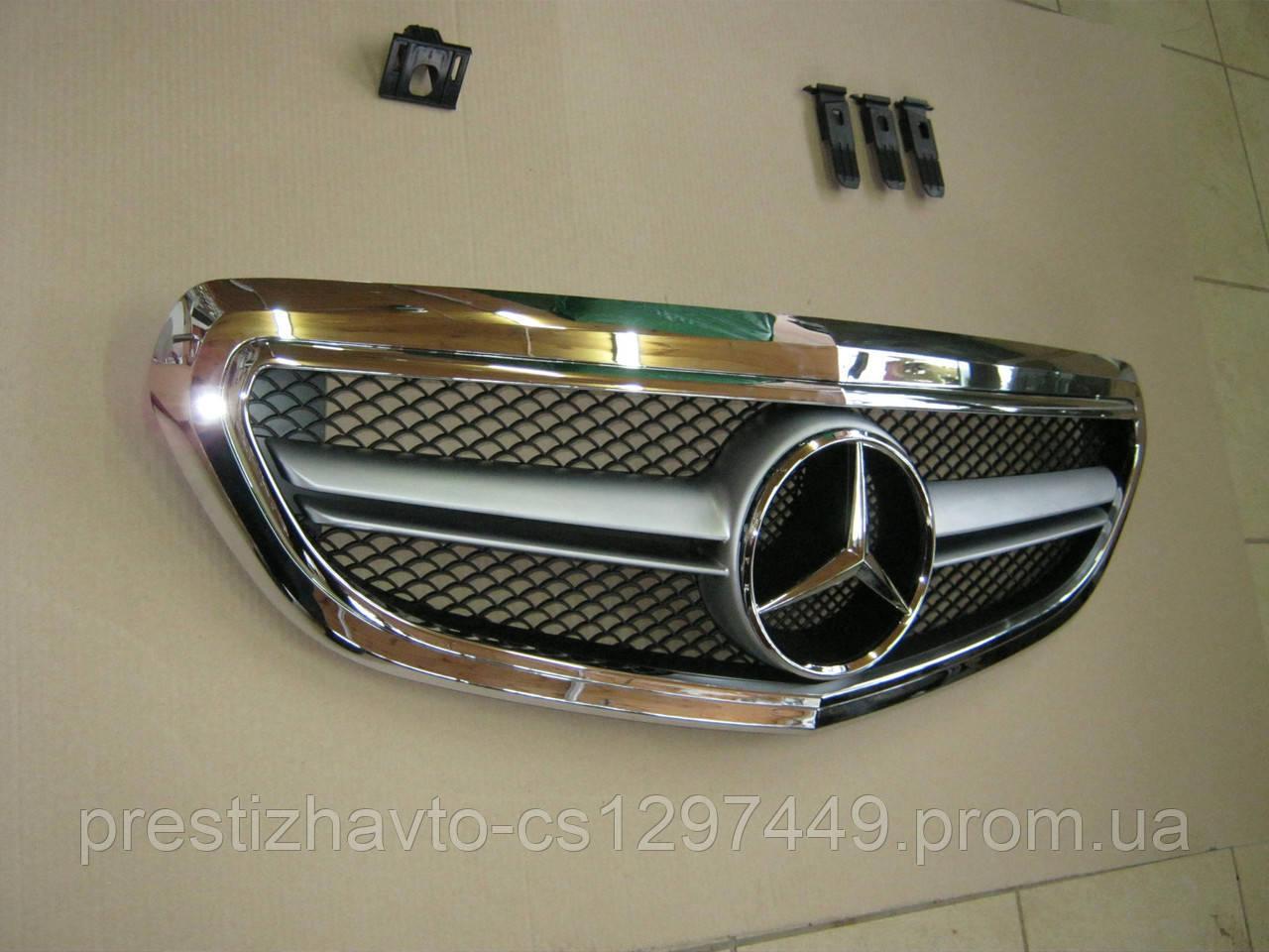 Решетка радиатора на Mercedes E-Сlass W212 с 2013 года