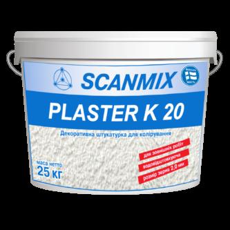 Декоративная акриловая штукатурка PLASTER R20 (короед) 25 кг