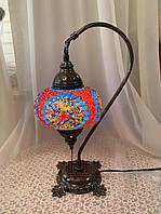 Настільний вигнутий турецький світильник кэмэл Sinan з мозаїки ручної роботи Кольоровий 2, фото 1