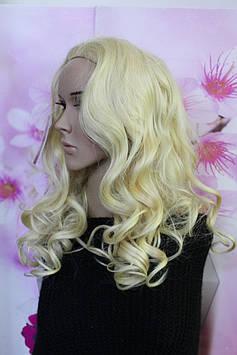 Полупарик искусственные волосы термоволокно волнистые длинные блонд
