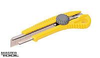 Нож 18 мм ABS пластик с металлической направляющей  винтовой замок