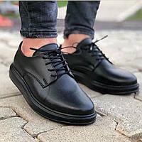 Черные мужские туфли smm из эко кожи
