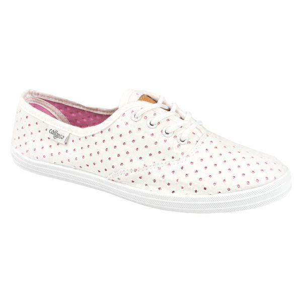 Кеды женские Calypso (white with pink)
