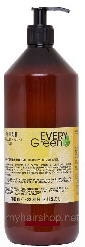 Кондиционер для сухих волос DIKSON Every Green Dry Hair Nutritive Conditioner 1000 мл